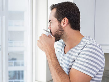Man listening to lonely songs