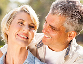 Older couple happy to have found each other