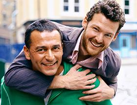 Gay men in love
