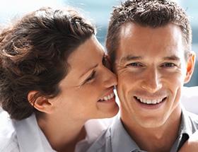 Happy couple who met online